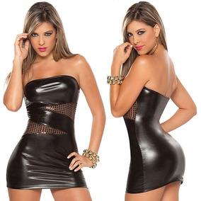 Stripper Pole Table Mini Vestido Strapless Negro Sexy Edecan
