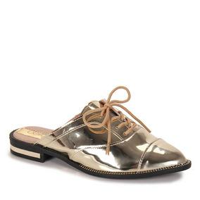 Sapato Oxford Mule Conforto Feminino Beira Rio - Dourado(a)