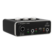 Interface De Audio Um2 Behringer Placa Usb 2x2 U-phoria