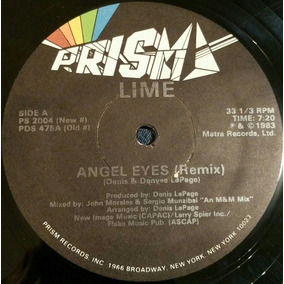Lime - Angel Eyes (remix) 12 Us 1983