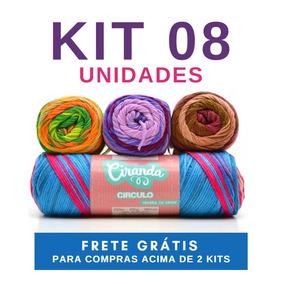 Linha Fio Lã Ciranda 100g Circulo - Kit 08 Novelos f6c98aea212
