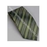 Gravata Tradicional Verde Com Linhas Brancas Ig0124