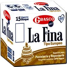 Margarina La Fina Europeo Alta Pastelería Repostería 15kg