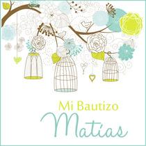 Invitacion Kit Jaulas Bautizo Comunion Baby