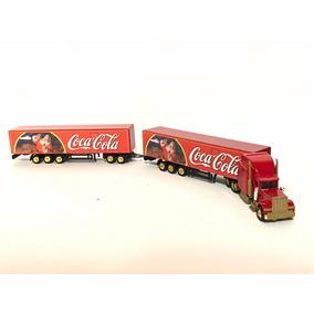 Raro Caminhão Peterbilt Bi Trem Coca Cola Ho 1/87 Natal