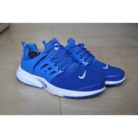 Kp3 Nuevo !!! Zapatos Nike Presto Azul Para Caballeros