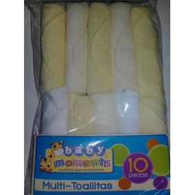 Set De 10 Toallitas Para Bebe Usos Multiples
