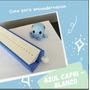 azul capri-blanco