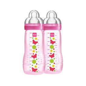 Mamadeira Fashion Bottle - Girl - 330ml - Double Pack - Flor