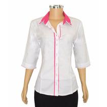 Camisa Feminina Camisete 7/8 Dudalinda Flor