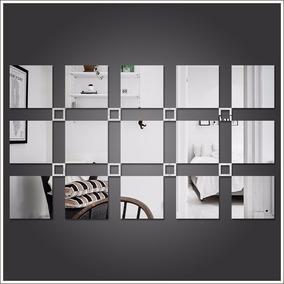 Espelho Decorativo Acrílico Quadrados Sala Quarto Frete Free