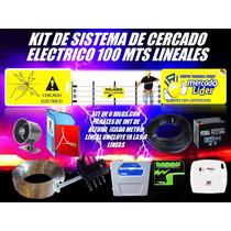 Cerco Electrico Kit 100 Mts Energizador Y Mas Listo Instalar