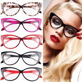 a4734c20e1a4e Oculos Gatinha Vermelho - Óculos Armações no Mercado Livre Brasil