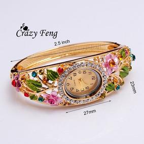 Relógio Feminino Pulseira Floral Lindo Frete Fixo 15,00