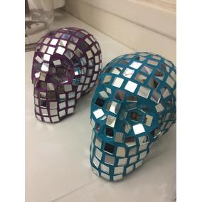 Caveira Mexicana Em Espelho (produto Artesanal) / Cranio