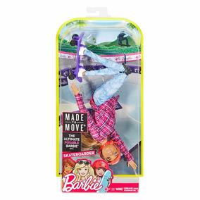 Barbie Made To Move Skatista Articulada Feita Para Mexer Bqt