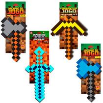 Espada Diamante Original Zr Toys Picareta Machado Ouro Ferro