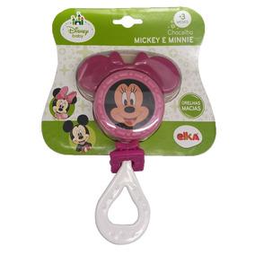 Chocalho E Mordedor - Disney - Minnie - Branco - Elka