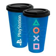 Copo Viagem Fun Playstation   Azul   Videogame   Ps4