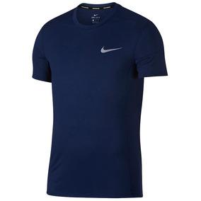 Camisa Nike Dri-fit Miler Cool Marinho Original