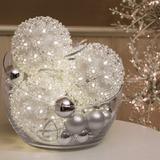 Serie De Esferas Con Luces Led Para Decoración Navideña