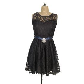 Vestido Corto Mujer Con Cinturón