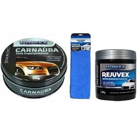 Kit Limpeza Automotiva Vonixx Com Cera + Pano + Rejuvex