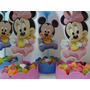Centros De Mesa Minnie Mickey Bebe Simple Economico Goma Eva