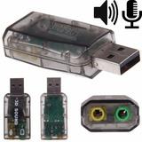 Placa De Sonido Usb Externa Audio 5.1 Surround 3d Notebook