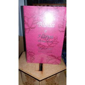 Biblia Sagrada E Harpa Let Gigante Luxo Rosa Pink Promocao