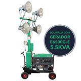 Torre De Iluminação 1600w Com Gerador 5.5kva - Ep-tl2800e