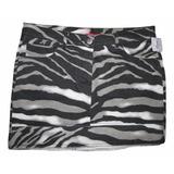 Mini Saia Jeans Zebra Nº40 Sem Lycra