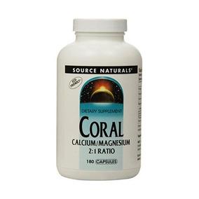 Fuente Naturals Coral Calcio / Magnesio De 2: 1, 180 Cápsula