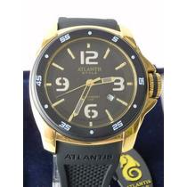 Relógio Masculino Esportivo Pulseira Emborrachada Atlantis
