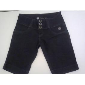 Bermuda Jeans Feminina Preta Linda Z