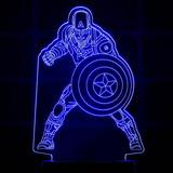 Capitão América Vingadores Abajur Luminaria Led Geek