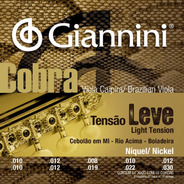 Encordoamento Para Viola Giannini Niquel Tensao Leve + Nf
