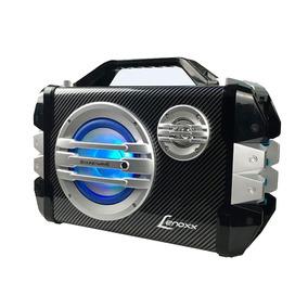 Caixa Portátil Multiuso Bluetooth Rádio Fm Usb Lenoxx