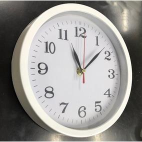 Reloj De Pared Moderno Blanco Con Fondo Blanco 22cm