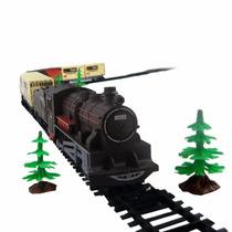 Ferrorama Trem Máquina Locomotiva Elétrica Trilhos E Vagões