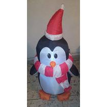Inflable Pingüino Con Bufanda Accesorio Navidad Envío Gratis