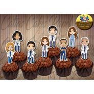 Grey's Anatomy 50 Topper Tags Festa Aniversário Docinhos