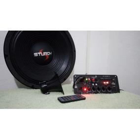 Amplicador Kit Caixa Ativa 80wrms/usb/bluetooth/mic(bivolt)