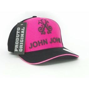 Boné Aba Torta John John Rosa E Preto Snap