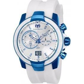 Reloj Technomarine Tm-615009 Silicona Color Blanco Hombre