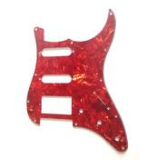 Escudo De Guitarra Strato St Vermelho Perolizado