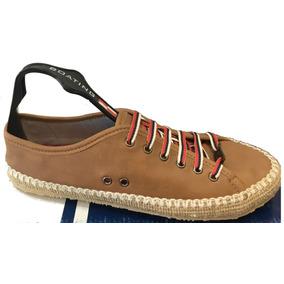 Zapatillas De Cuero Con Detalles En Yute, Muy Originales!