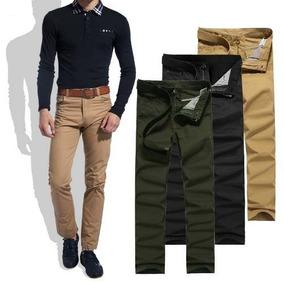 Kit 03 Calças Sarja Jeans Masculina Skinny C/ Lycra + Cores