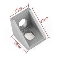Escuadra Aluminio Para Perfil 2020 Cnc Impresora 3d