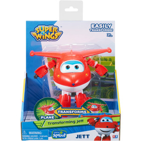 Super Wings Vehiculos Transformables Avion Jett 12cm